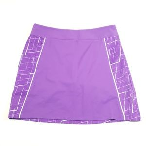 Adidas climate cool purple skirt skort work out 8